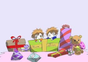 Ouran  Host Club-Open your presents by BlackAndWhiteTiger