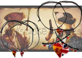 APH - Spain x England - Half Heart Necklaces by Undisclose--Desires
