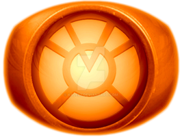 Orange Lantern Ring Coloured by KalEl7