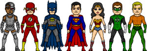 Justice League Silver Age Style by ztyran