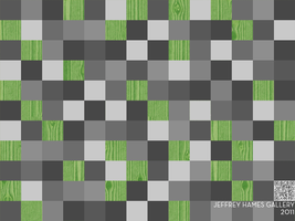 Square Wood Grain Patterned Background GREEN by JeffreyHamesGallery