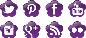 Social Media Icons for RunKudiRun by ChrisWithATa