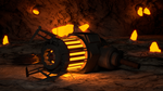 Gravgun in a cave by PercyTechnic