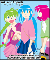 Yuki and Friends Fancoloration by everythinganna