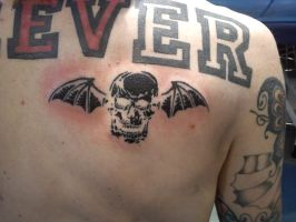 A7X Death bat tattoo by Malitia-tattoo89