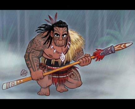 Maori Warrior by LuigiL