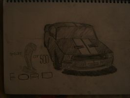 Ford Shelby GT500 Sketch by Kayaba-Wolf