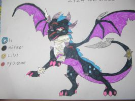 Zyza dragon form by FantasyWorld24