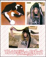 Bunny Scarf Hood by nuclearpomegranate