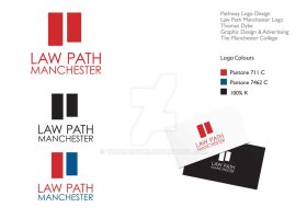 Law Path Manchester Logo Design 2 by thomasdyke