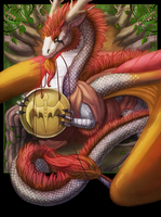 Flight Rising Commish - King of Pentacles by Essence-Of-Rapture