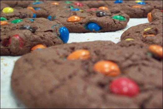 chocolate m+m by mellyG