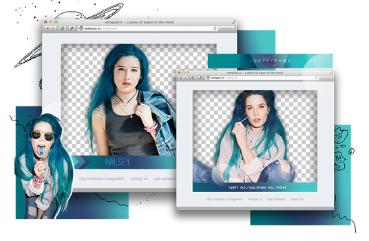 Pack Png 1010 // Halsey. by ExoticPngs