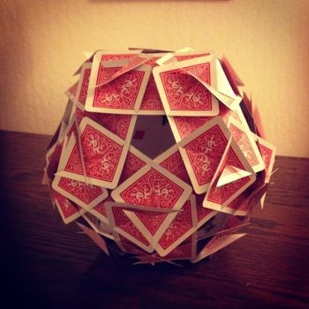 Polyhedral Playing Card Construct by IndustrialComics