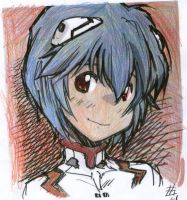 rei ayanami smile by elijarman