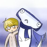 John Watson and his pet shark by dinosauriomutante