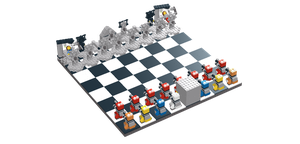 LDD Doctor Who Chess Set by IHave2MuchFreeTime