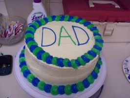 Dad Birthday Cake 2011 by Crosseyed-Cupcake