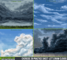 Clouds Practice Sheet by leticiaprestes