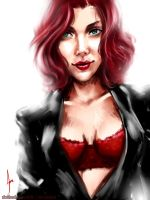 Scarlett Johansson - 'The Black Widow' by riotfaerie