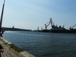 Gothenburg Harbor by KarinClaessonArt