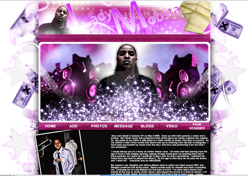 Myspace Layout by AMENTADESIGN