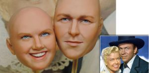 My Immortals Doris Day and Howard Keel sculpture by my-immortals