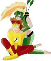 Artemis and Kid Flash by FabulousBendingBros