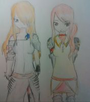 Fairy Tail OCS - Louise and Alice - Battle Outfits by abbey1010