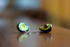 Avocado Earrings by liesorter