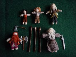 Micro-crochet Fellowship of the Ring (detail) by honouraryweasley