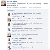 Hetalia Facebook: Pasta Phone by gilxoz-epicness