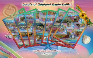 Game Cards - Colors of Summer I by magXlander