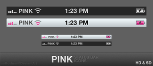 Pink Status Bar by xoRoshani