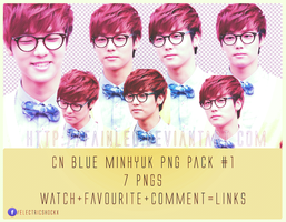 CN Blue Minhyuk PNG Pack #1 by fainleo
