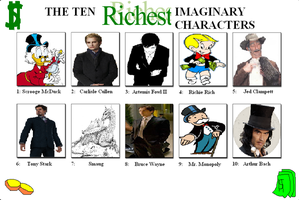 The Ten Richest Imaginary Characters by Austria-Man