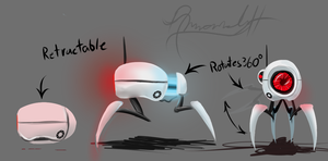 Portal Concept- Mobile Camera/Portal Gun by Digital-Quill-Studio