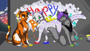 Happy Bday Triplets - '10 by unistar2000