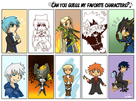 My favorite characters by Wiensia