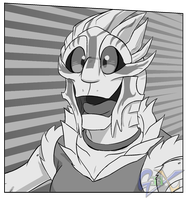 Turian with Enthusiasm by Sketchasaurus