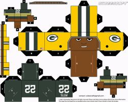Elijah Pitts Packers Cubee by etchings13