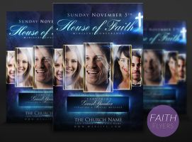 House of Faith PSD Flyer Template by ImperialFlyers