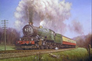 King on Dainton bank 1956. by Artistjeffries