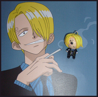 Chibi-Charms: One Piece Sanji by MandyPandaa