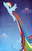 Rainbow Dash Poster Design final - no text by bigponymac