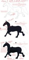 Black horse tutorial by overshined