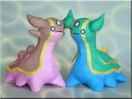 Gastrodon Papercraft by Skele-kitty