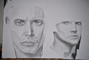 Winchester Brothers WIP IV by GoddessEternal