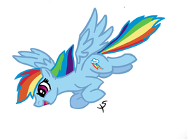 Dash Flying COLOR by xscaralienx
