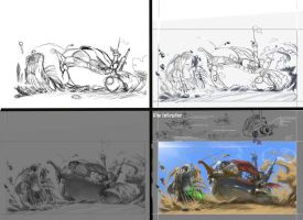 Sand Pirate Vessel process. by danihell-lima